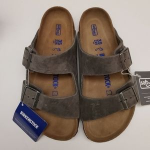 Birkenstock Arizona Iron Gray Leather 35